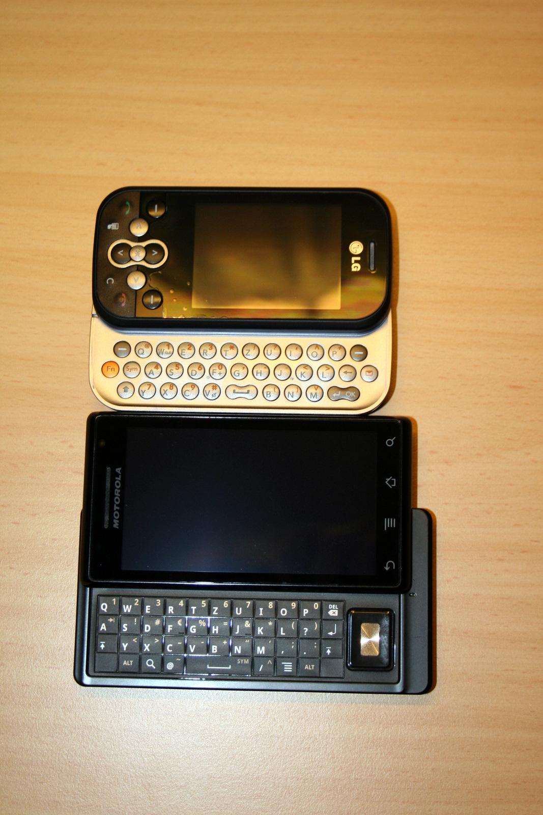 LG KS360 upgrade auf Motorola Milestone